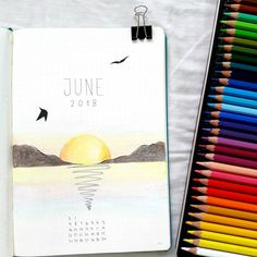 Starting June setup . . . . #bulletjournaljankies #bulletjournaling #plannercommunity #showmeyourplanner #bujolove #bujoideas… Bullet Journal Tracking, How To Bullet Journal, Bullet Journal Titles, Bullet Journal Cover Page, Bullet Journal Inspiration, Book Journal, Journal Ideas, Journals, Creative Diary