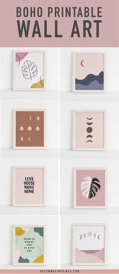 Decorate your home with affordable, unique boho art prints. These prints are available as instant downloads so you can get started right away. If bohemian is your decorating style, you'll love these art prints! #boho #bohemian #homedecor #wallart #artprints Modern Printable Wall Art, Unframed Art, Mid Century Modern Art, Inspirational Wall Art, Boho Wall Art, Modern Watercolor Art, Bohemian Art, Abstract Geometric Art, Modern Art Abstract