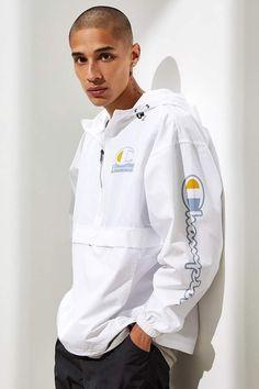 Champion UO Exclusive Half-Zip Anorak Jacket - Shop Now! Anorak Jacket, Rain Jacket, Nike Half Zip, Urban Outfitters, Fitness Models, Champion, Windbreaker, Street Wear, Pullover