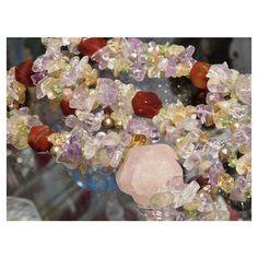 Rose Quartz Necklace Medallion Carnelian Agate by PattysJewelryEtc ($199) found on Polyvore