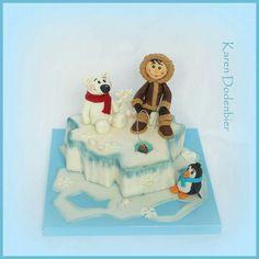 Iceberg Eskimo polar bear abd penguin cake