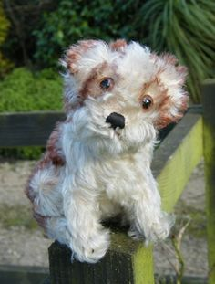 Steiff Molly dog. www.oldteddybearshop.co.uk