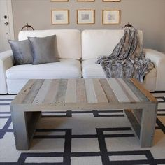 Coffee Table Made From Pallets --- #pallets