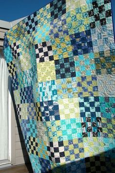 cool sixteen   Quilt it - I think I want one of these. Maybe in pinks and yellows.