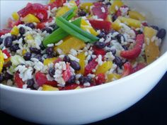 Caribbean Rice and Black Bean Salad~gonna make this soon...