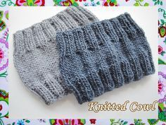 Easy Knitted Cowl-Unisex / all sizes Snood Knitting Pattern, Crochet Snood, Knit Headband Pattern, Knit Cowl, Knitted Headband, Knitting Patterns Free, Free Knitting, Baby Knitting, Knitted Hats