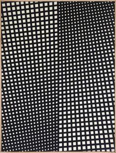 Untitled (1956) by Italian artist Mario Nigro (1917-1992). Tempera on canvas, 131 × 97 cm. via A arte Invernizzi on Artsy