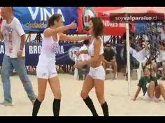 Candidatas a reina de Viña se la jugaron con camisetas mojadas y sensual...