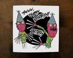 Hey, I found this really awesome Etsy listing at https://www.etsy.com/listing/508130389/rick-and-morty-birthday-card-scary-terry
