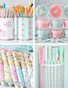 Repurpose tin cans for storage
