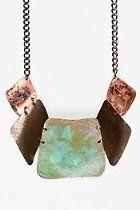 Sibilia Oxidized Brass Bib Necklace  #UrbanOutfitters