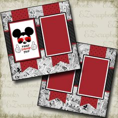 Disney Premade Scrapbook pages! Just add photos to this layout! Complete your scrapbooks easily with our quick pages! Album Scrapbook, Disney Scrapbook Pages, Scrapbook Layout Sketches, Birthday Scrapbook, Scrapbook Stickers, Scrapbooking Layouts, Scrapbook Paper, Digital Scrapbooking, Vacation Scrapbook