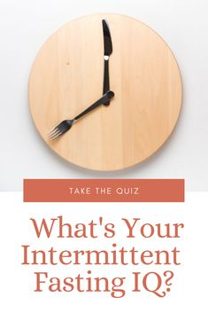 Have you heard of Intermittent Fasting? Test yourself to see how much you really know about IF with our Intermittent Fasting IQ Quiz! Best Paleo Recipes, Whole 30 Recipes, Delicious Recipes, Weight Loss Help, Weight Loss Journey, Knowledge Is Power, Intermittent Fasting, Health And Wellness, Healthy Lifestyle