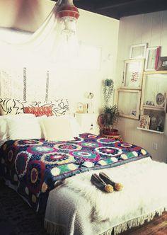 Suzani throw bedroom