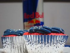 Redbull cupcakes. There's a fella I might have to make these for.  Hmm . . .