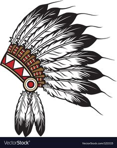 Illustration of native american indian chief headdress indian chief mascot, indian tribal headdress, indian headdress vector art, clipart and stock vectors. Native American Headdress, Native American Art, American Indians, Native Indian, Native Art, Indian Art, Chiefs Mascot, Sombrero Cowboy, Indian Drawing