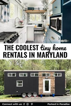 Take a glamping staycation in one of these Maryland tiny homes. Believe it or not, even states like Maryland have several luxury options so even the least outdoorsy people to take advantage of a glamping retreat. Great spots to bring the kids in any season. Locations in McHenry, Oakland, Knoxville, Monkton and more. From rustic to modern interiors.