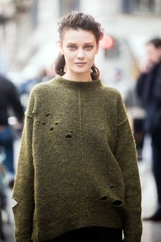 great knit. #DianaMoldovan #offduty in Milan.