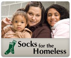 Donate socks at any participating Famous Footwear store to help homeless men, women and children in our area. New socks are a great comfort on tired feet. Our homeless guests are always so grateful to get a pair.  maybe do w/sock exchange next yr?