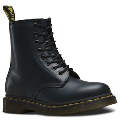 Part of the Classic collection which is recognised worldwide for uncompromising looks, durability and comfort 8 Eyelet 1460 Boot Smooth is the classic Dr. Martens leather; durable, with a smooth finish Made with Goodyear welt, the upper and sole are heat-sealed and sewn together Care Instruction: Clean Away dirt using a damp cloth, allow to dry apply correct coloured wax based shoe polish to restore shine as desired
