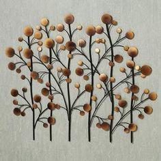 Copper Tree Metal Wall Art