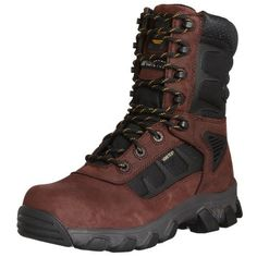"""DeWALT Men's Hybrid 8"""" Heavy Duty Lightweight Steel Toe Work Boot DeWALT. $111.32. Oil- and slip-resistant high-abrasion outsole. Rubber sole. Waterproof leather with Gore-tex liner. Composite toe for maximum protection. Molded TPU shank. Leather, mesh, and synthetic"""