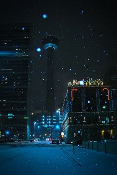 It's Christmas time in the city, Calgary, Alberta, Canada