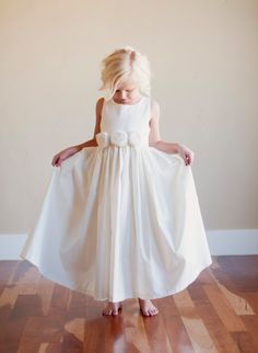 Flower Girl Dress Rustic flower girl Bridesmaid dress by gillygray, $85.00