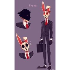 Hahaha I'm still awake. I was tired but I couldn't sleep. So I decided to draw frank Sketchbook Tumblr, Black Butler Meme, Character Art, Character Design, Bunny Man, Subway Surfers, Super Cat, Game Art, Amazing Art