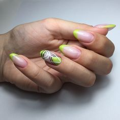 Nails geometric desing nailart neon green yellow Neon Green, Yellow, Green Nails, Nailart, Manicure, Nail Designs, Claws, Color, Green Toe Nails