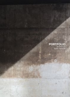PORTFOLIO. ARCHITECTURE. academic works on Behance