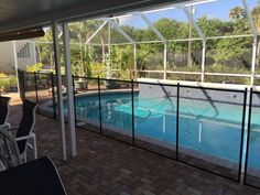 Pool Safety Fence Ormond Beach, FL - Surrounding pools with pool fence is an all year long safety precaution regardless of the weather it will protect your children from pool accidents. #PoolSafetyFence #PoolSafety #BabyBarrier