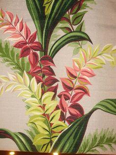 Vintage tropical barkcloth.