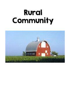 Rural, Urban and Suburban Posters Free Freebie