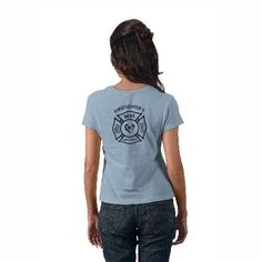 A Firefighter's Wife Maltese Logo Tee Shirt