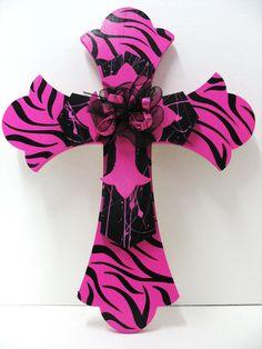 Triple Cross Hot Pink Zebra and Black. $26.95, via Etsy.