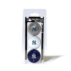MLB New York Yankees 3 Ball Clam, Navy by Team Golf. $13.68. Officially licensed product. plastic. Imprinted durable logo. Three regulation golf balls. Pack includes 3 multi-colored golf balls with full color team logo durable imprint.