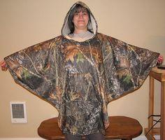 Camouflage Hooded Poncho Mossy Oak Break Up by adfabinidaho, $43.00
