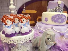 Great Sofia the First desserts at this girl birthday! See more party ideas at CatchMyParty.com. #sofiathefirst #princess #desserts #girlbirthday