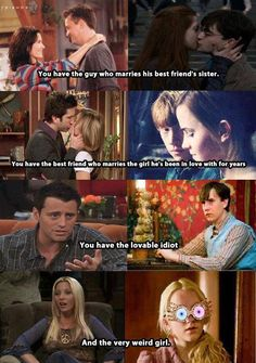 Harry Potter vs. Friends... I do not agree with this. Well, mostly the Joey and Neville part. Joey was a little dopey, but he was the heart of the show and he held his group together like glue. Neville was the unsung hero in Harry Potter and he faced great, tremendous battles just like Harry, Ron, and Hermione. Neville was NOT an idiot, neither was Joey.