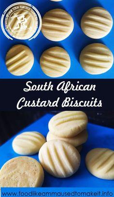 Custard Biscuits, Butter Biscuits Recipe, Custard Cookies, Biscuit Recipe, Vanilla Biscuits, Melting Moments Biscuits, Melting Moments Cookies, Bulk Cookie Recipe, Cookie Dough Recipes