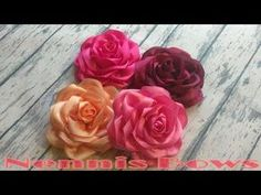 D.I.Y | FLOR O ROSA DE LISTON | TUTORIAL PAP | HOW TO MAKE A RIBBON FLOWER ROSE | Nennis Bows - YouTube