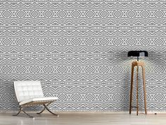 Design #Tapete Omis Sticken Living Room, Rugs, Design, Home Decor, Self Adhesive Wallpaper, Wall Papers, Monochrome, Farmhouse Rugs, Decoration Home