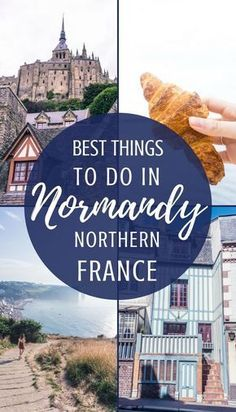Best Things to do in Normandy: Must See Bucket List Attractions Best things to do in Normandy, Northern France. Activities, places to see and history to visit that you'll just love! France 3, Normandy France, Visit France, Provence France, Normandy Tours, Paris Travel, France Travel, Travel Europe, Budget Travel