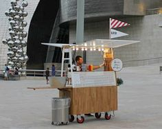 ✔ truck-a-tecture presents transformable structures for nomadic living gerobak kopi gerobak dorong gerobak thai tea gerobak roti bakar gerobak jusgerobak siomay Food Cart Design, Food Truck Design, Bilbao, Street Food Business, Small Coffee Shop, Food Kiosk, Hot Dog Cart, Hot Dog Stand, Coffee Carts