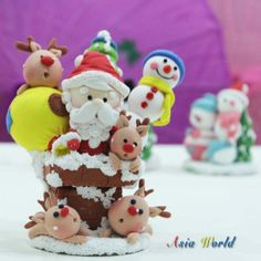 Christmas Santa Claus carry present bag set clay by AsiaWorld, $64.50