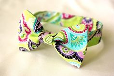 Child Bow Tie Lime Paisley for little boys by babybystevie on Etsy, $20.00