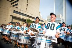 Snare line having a blast performing at a tailgate before the Chiefs game!