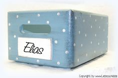 Kisten & Boxen - ★★★ Kiste stapelbar mit Wunschwort 20x30x15 ★★★ - ein…