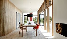 Situated by the North Sea, near fjords, lakes and dunes, this holiday home interacts with its natural environment and integrates qualities of simple living. In